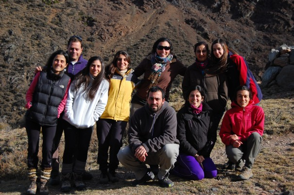 The group's members during the retreat in Vallecitos. From left to right: Natalia Schroeder, Diego Vázquez, Jimena Dorado, Micaela Santos, Ana Mazzolari, Hugo Marrero, Belén Maldonado, Nydia Vitale, Georgina Amico, Guadalupe Peralta.